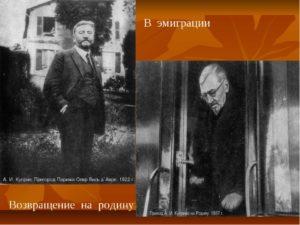 Эмиграция Куприна А.И.