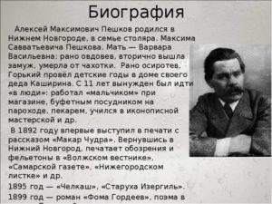 Биография Горького М.Ю.