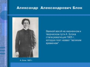 Творческий и жизненный путь Блока Александра Александровича