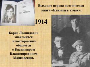 Первые шаги в литературе Пастернака Б.Л.