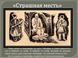 Страшная месть характеристика образа Колдун  (отец, брат Копрян, Антихрист)