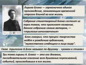Анализ лирики Блока А.А.