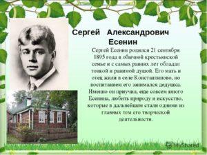 Биография Есенина Сергея Александровича