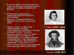 Творческий путь Тютчева Ф.И.