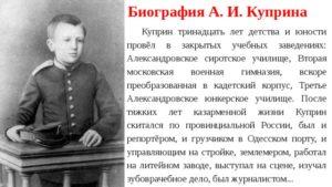 Детство и юность Куприна А.И.