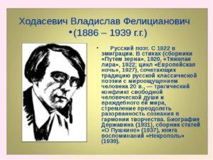 Биография Ходасевича В.Ф.
