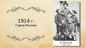 Творческий и жизненный путь Шолохова Михаила Александровича